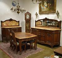 Антикварный столовый гарнитур в стиле Луи XV из 5 предметов