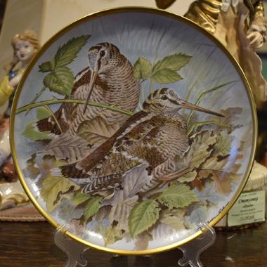 Декоративная тарелка из серии Дикие птицы мира (Gamebirds of the World)