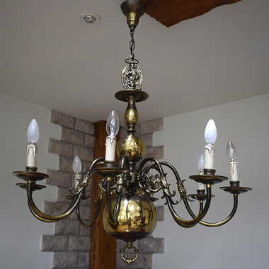 Фламандская люстра на 8 ламп