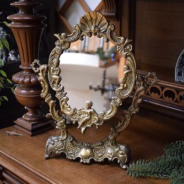 """Антикварное зеркало """"Путти"""""""