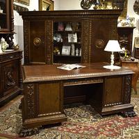 Кабинет в стиле нео-ренессанс из 2-х предметов (книжный шкаф и письменный стол)