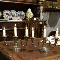 Пара подсвечников на 3 свечи