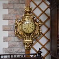 Антикварные  настенные часы Gustav Backer