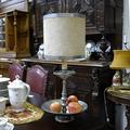 Часовой гарнитур в стиле ар-нуво: часы каминные и два канделябра на 5 свечей