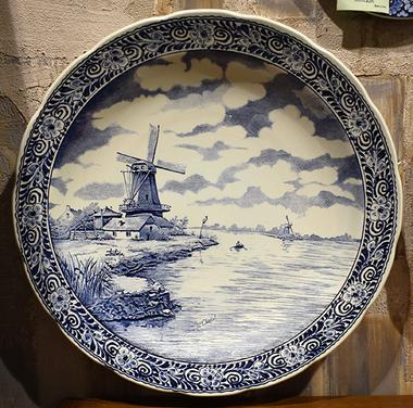 "Декоративная тарелка ""Голландский пейзаж"""