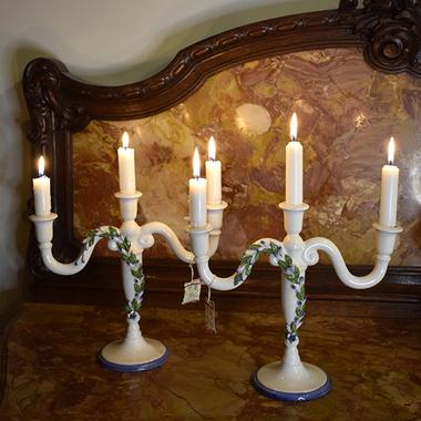 Пара подсвечников на 4 свечи Dea Capodimonte