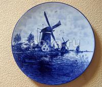 "Настенная тарелка ""Мельницы"" Delft"